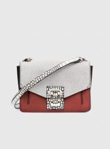 Proenza Schouler White/Brick/Black Hava Shoulder Bag