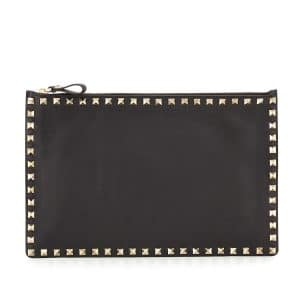 Valentino Rockstud Large Zip Pouch Bag 1
