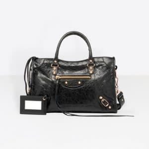 Balenciaga Black Classic Gold City S Bag