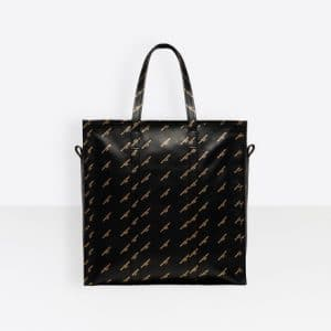 Balenciaga Black/Gold Logo Bazar Shopper M Bag