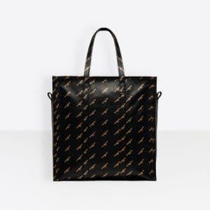 Balenciaga Black/Gold Logo Bazar Shopper M Bag