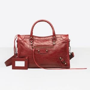 Balenciaga Rouge Brique Classic City S Bag