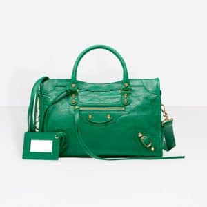 Balenciaga Vert Imperial Classic Gold City S Bag