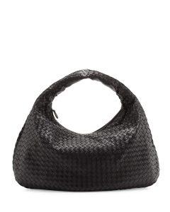 Bottega Veneta Black Large Veneta Bag