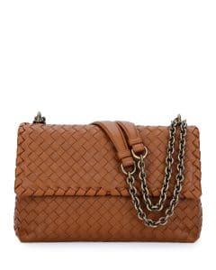 Bottega Veneta Dark Beige Olimpia Small Shoulder Bag