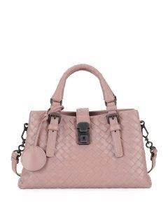 Bottega Veneta Medium Pink Mini Roma Bag