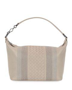 Bottega Veneta Smoke Intrecciato Small Shoulder Bag