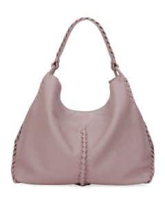 Bottege Veneta Medium Pink Deerskin Hobo Bag