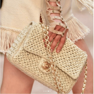 Chanel Beige Woven Flap Bag - Cruise 2018