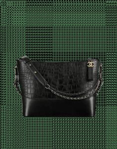 Chanel Black Alligator Gabrielle Hobo Bag