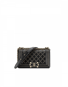 Chanel Black Lambskin Boy Chanel Small Flap Bag