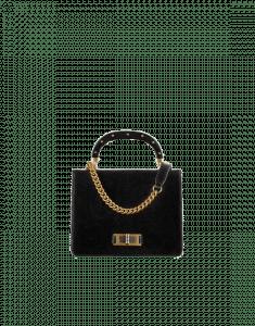 Chanel Black Lizard Flap Bag with Top Handle