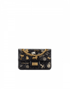 Chanel Black Lucky Charms 2.55 Reissue Size 224 Bag