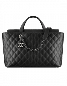 Chanel Black Quilted Calfskin Large Shopping Bag