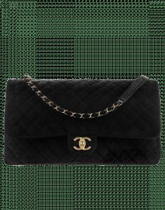 Chanel Black Velvet Classic XXL Flap Bag 2