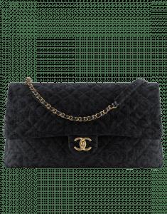 Chanel Black Velvet Classic XXL Flap Bag