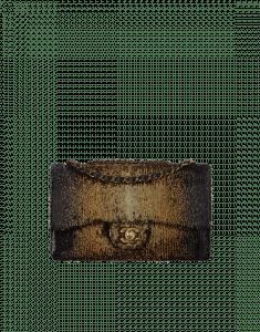 Chanel Black/Bronze Sequins/Lambskin Classic Flap Medium Bag