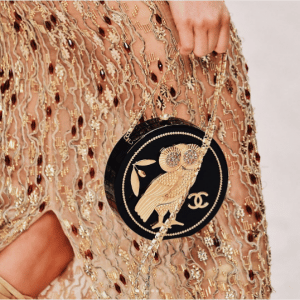Chanel Black/Gold Owl Embellished Minaudiere Bag - Cruise 2018