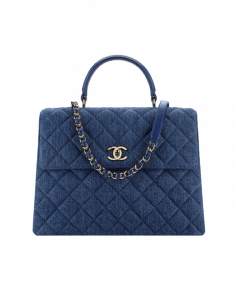 Chanel Blue Denim Trendy CC Large Top Handle Bag