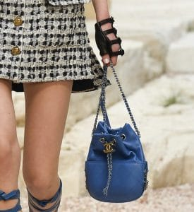 Chanel Blue Gabrielle Purse Bag - Cruise 2018