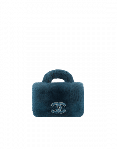 Chanel Blue Orylag/Lambskin Mini Flap Bag with Top Handle