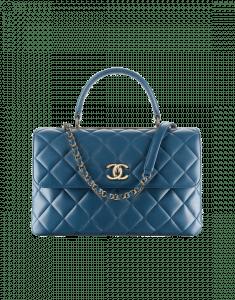 Chanel Blue Trendy CC Medium Top Handle Bag