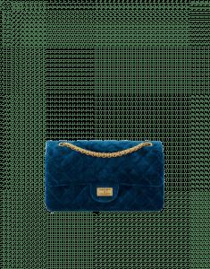 Chanel Blue Velvet 2.55 Reissue Size 225 Bag