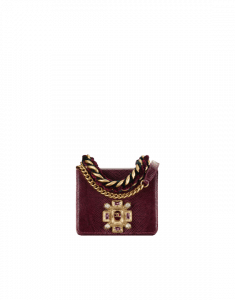 Chanel Burgundy Lizard with Pearl Flap Bag with Top Handle