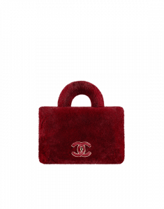 Chanel Burgundy Orylag/Lambskin Medium Flap Bag with Top Handle