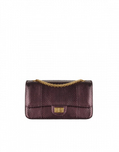 Chanel Burgundy/Black Python 2.55 Reissue Size 225 Bag