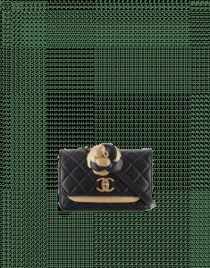 Chanel Dark Gold/Black Calfskin Waist Bag
