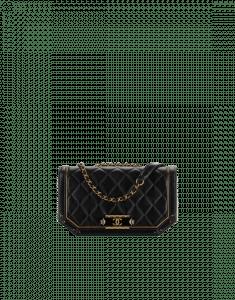 Chanel Dark Gold/Black Lambskin/Metallic Calfskin Flap Bag