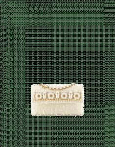 Chanel Ecru Embroidered Tweed Flap Bag