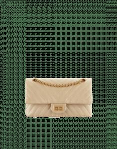 Chanel Gold Chevron Metallic Calfskin 2.55 Reissue Size 225 Bag