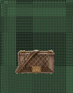 Chanel Gold Metallic Calfskin Boy Chanel Small Flap Bag