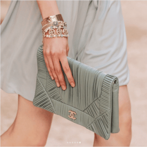 Chanel Gray Clutch Bag - Cruise 2018