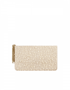 Chanel Ivory Goatskin with Pearls Clutch Bag