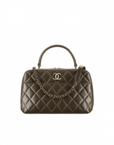 Chanel Khaki Trendy CC Bowling Bag