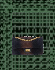 Chanel Navy Blue Two-Tone Velvet 2.55 Reissue Size 225 Bag