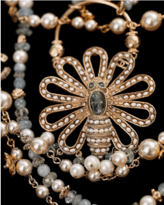 Chanel Pearl Necklacke and Brooch - Cruise 2018