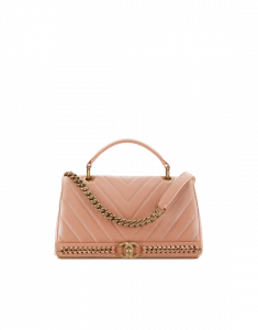 Chanel Pink Flap Bag with Top Handle