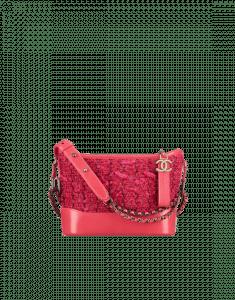 Chanel Pink Tweed/Calfskin Gabrielle Small Hobo Bag