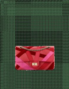 Chanel Red Lambskin/Velvet 2.55 Reissue Size 225 Bag