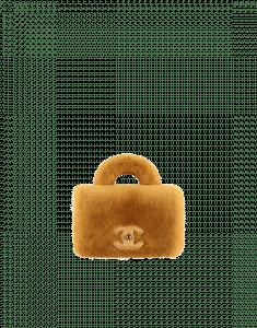 Chanel Yellow Orylag/Lambskin Mini Flap Bag with Top Handle