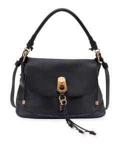 Chloe Blue Owen Medium Flap-Top Bag