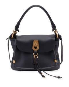 Chloe Blue Owen Small Flap-Top Bag