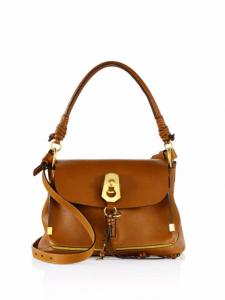 Chloe Caramel Owen Small Flap-Top Bag