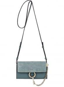 Chloe Cloudy Blue Faye Mini Crossbody Bag