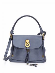 Chloe Cloudy Blue Owen Small Flap-Top Bag