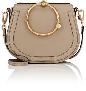 Chloe Gray Nile Medium Bracelet Crossbody Bag